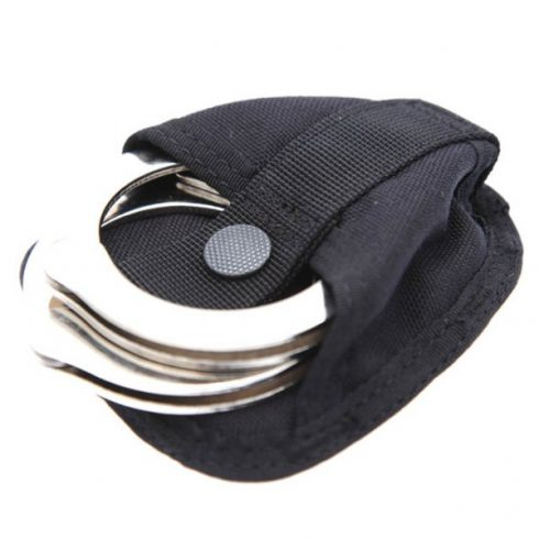 Snigel Design top open handcuff pouch black