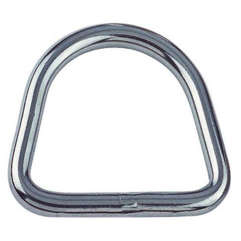 Rozsdamentes D gyűrű 15 mm
