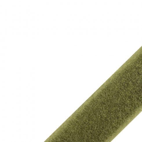 25mm széles olive bolyhos varrható velcro tépőzár