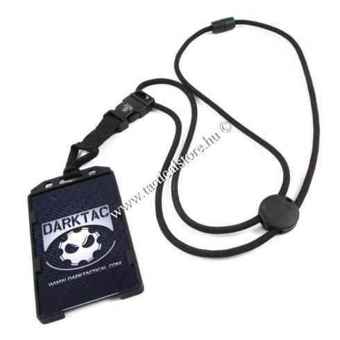 dark tactical nyakba akasztható mágneskártya tartó