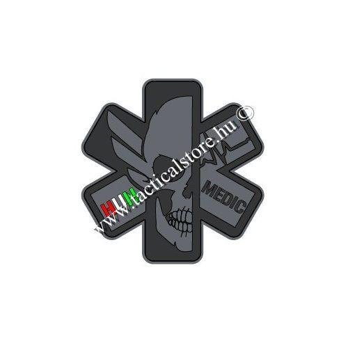 3d pvc felvarró dark tactical paramedic