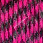 550 paracord zsinór rózsaszín fekete camo mintás