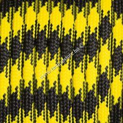 550 paracord zsinór sárga fekete camo mintás