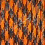 550 paracord zsinór narancs fekete camo mintás