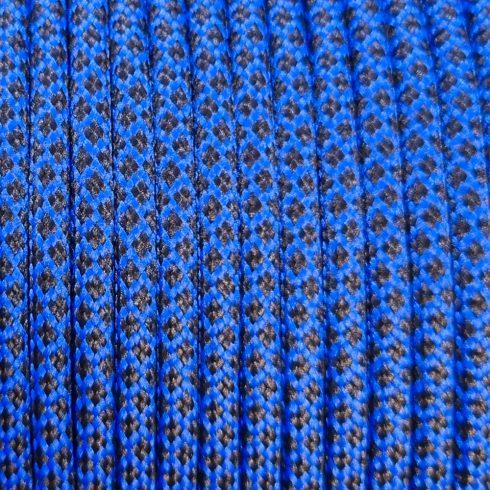 550 paracord zsinór kék fekete gyémánt camo mintás