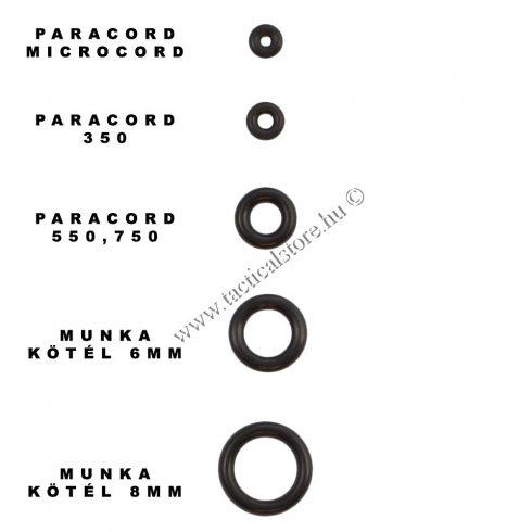 Távtartó gyűrű paracord zsinórokhoz