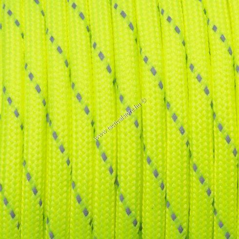 Fényvisszaverős 550 paracord zsinór fluor zöld