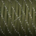 Fényvisszaverős 550 paracord zsinór olív zöld