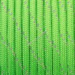 Fényvisszaverős 550 paracord zsinór zöld