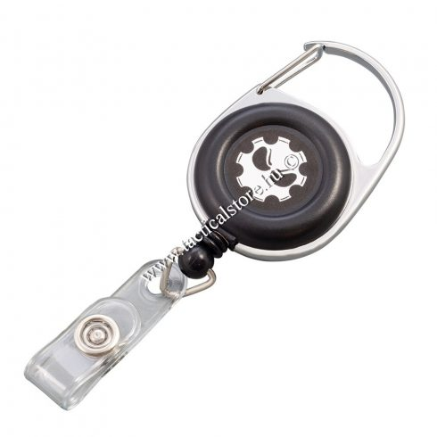 Kihúzható kulcs és kártyatartó övre csiptethető