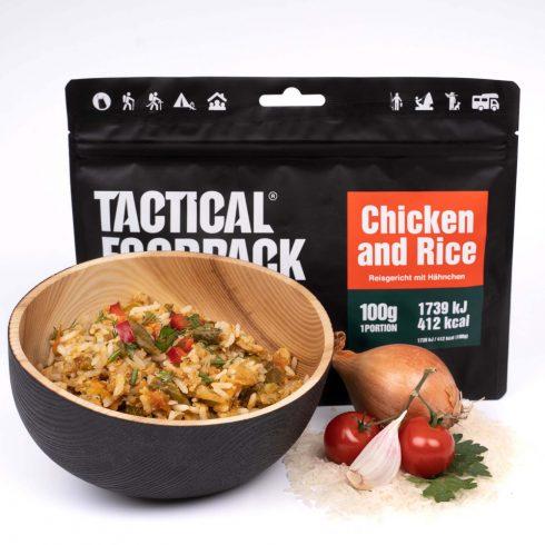 Tactical foodpack katonai túra MRE étel csirkés rizseshús