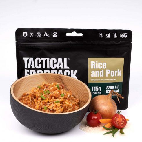 Tactical foodpack katonai túra MRE étel sertés rizseshús